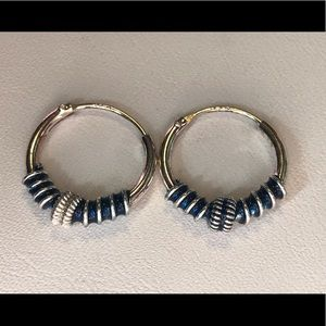 SS Small Dark Blue Earrings
